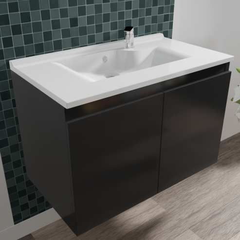 Caisson simple vasque PROLINE 80 - Gris anthracite