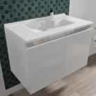 Caisson simple vasque PROLINE 80 - Blanc brillant
