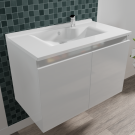 Caisson simple vasque PROLINE 80 - Blanc brillant