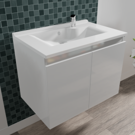 Caisson simple vasque PROLINE 70 - Blanc brillant
