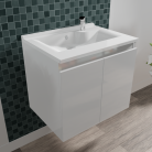 Caisson simple vasque PROLINE 60 - Blanc brillant