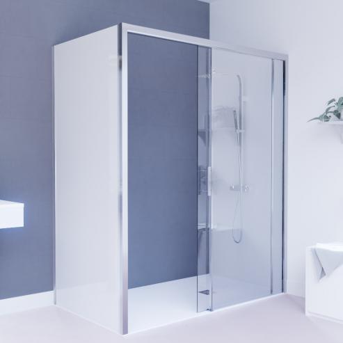 paroi de douche pmr d 39 angle 6 mm nerina retour opaque 120 90cm unesalledebain. Black Bedroom Furniture Sets. Home Design Ideas