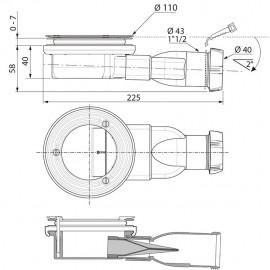 Bonde de douche extra-plate Ø 90mm pour CELEST