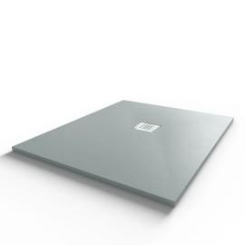 Receveur ultraplat SLIMMER ardoise coloris gris béton - 80*100 cm