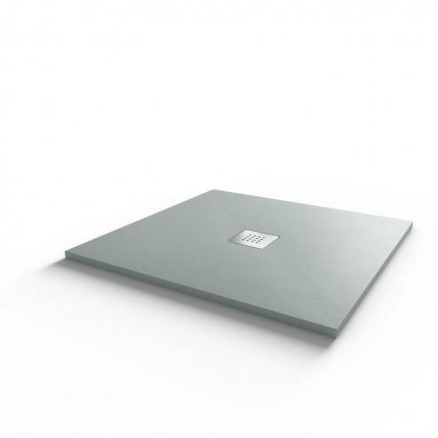 Receveur ultraplat SLIMMER ardoise coloris gris béton - 80*80 cm