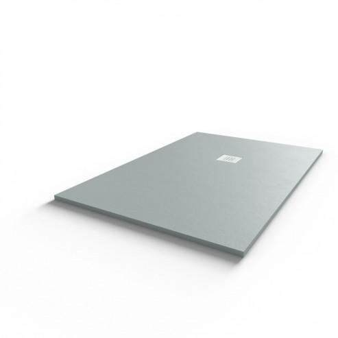 Receveur ultraplat SLIMMER ardoise coloris gris béton - 90*140 cm