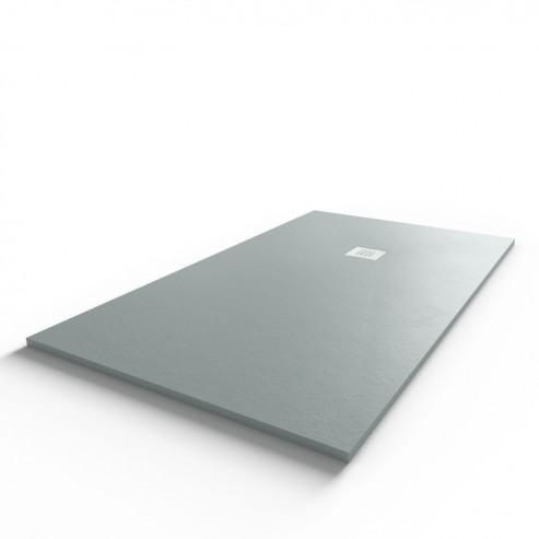 Receveur ultraplat SLIMMER ardoise coloris gris béton - 90*160 cm