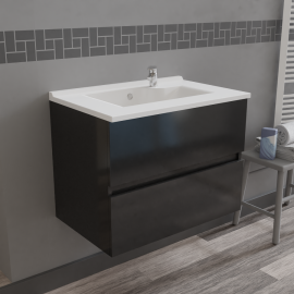 Caisson simple vasque ROSALY 70 - Gris brillant