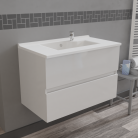 Caisson simple vasque ROSALY 80 - Blanc brillant