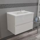 Caisson simple vasque ROSALY 70 - Blanc brillant