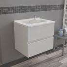 Caisson simple vasque ROSALY 60 - Blanc brillant