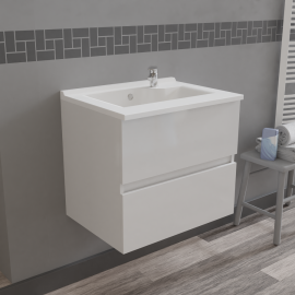 Caisson simple vasque ROSALY 60 - Blanc brillant