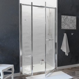 Porte de douche droite PMR pivotante 6mm OCEANE - 120cm