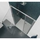 Porte de douche gauche PMR pivotante 6mm OCEANE - 120cm