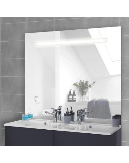 Miroir rétro éclairé MIRLUX - 124x105 cm - avec interrupteur sensitif