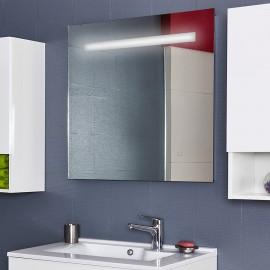 Miroir rétro éclairé MIRLUX - 90x80 cm - avec interrupteur sensitif