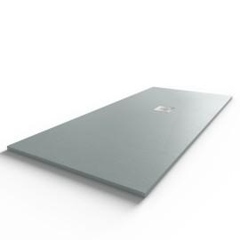 Receveur ultraplat SLIMMER ardoise coloris gris béton - 180*80 cm