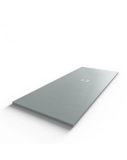 Receveur ultraplat SLIMMER ardoise coloris gris béton - 170*70 cm