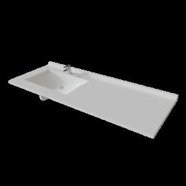 Plan simple vasque déportée RÉSIPLAN - 151 cm vasque à gauche