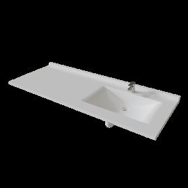 Plan simple vasque déportée RÉSIPLAN - 151 cm vasque à droite