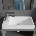 Lave-mains à poser blanc 40 x 22 cm RÉSIMAIN
