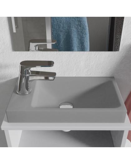 Lave-mains à poser gris béton 40 x 22 cm RÉSIMAIN