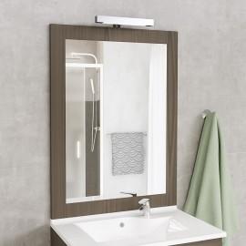 Miroir avec applique Led MIRALT - 80 cm - coimbra