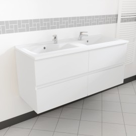 Caisson double vasque ROSALY 120 - Blanc brillant