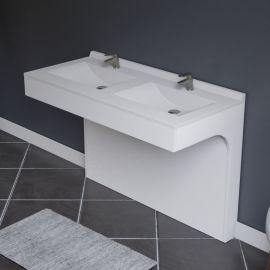 Caisson double vasque EPURE 120 - Blanc