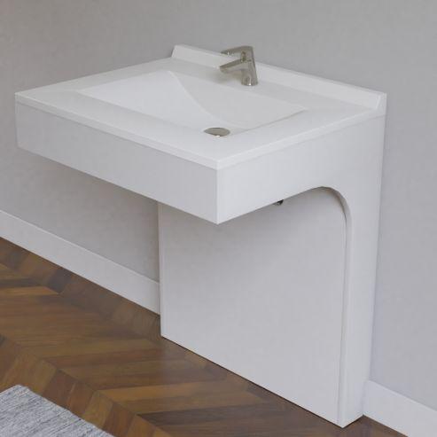 Caisson simple vasque PMR EPURE 70 - Blanc