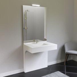Meuble simple vasque EPURE 90 - Blanc