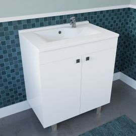 Caisson simple vasque ECOLINE 70 - Blanc brillant