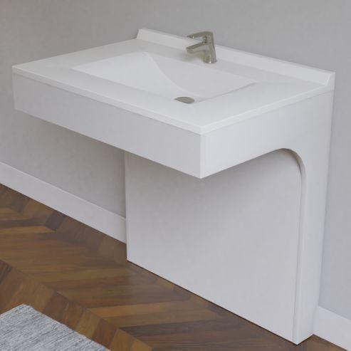 Caisson simple vasque PMR EPURE 80 - Blanc