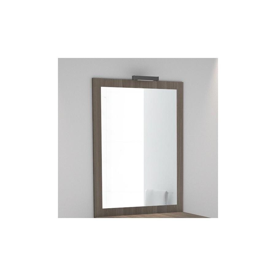 Miroir avec applique for Miroir salle de bain avec applique