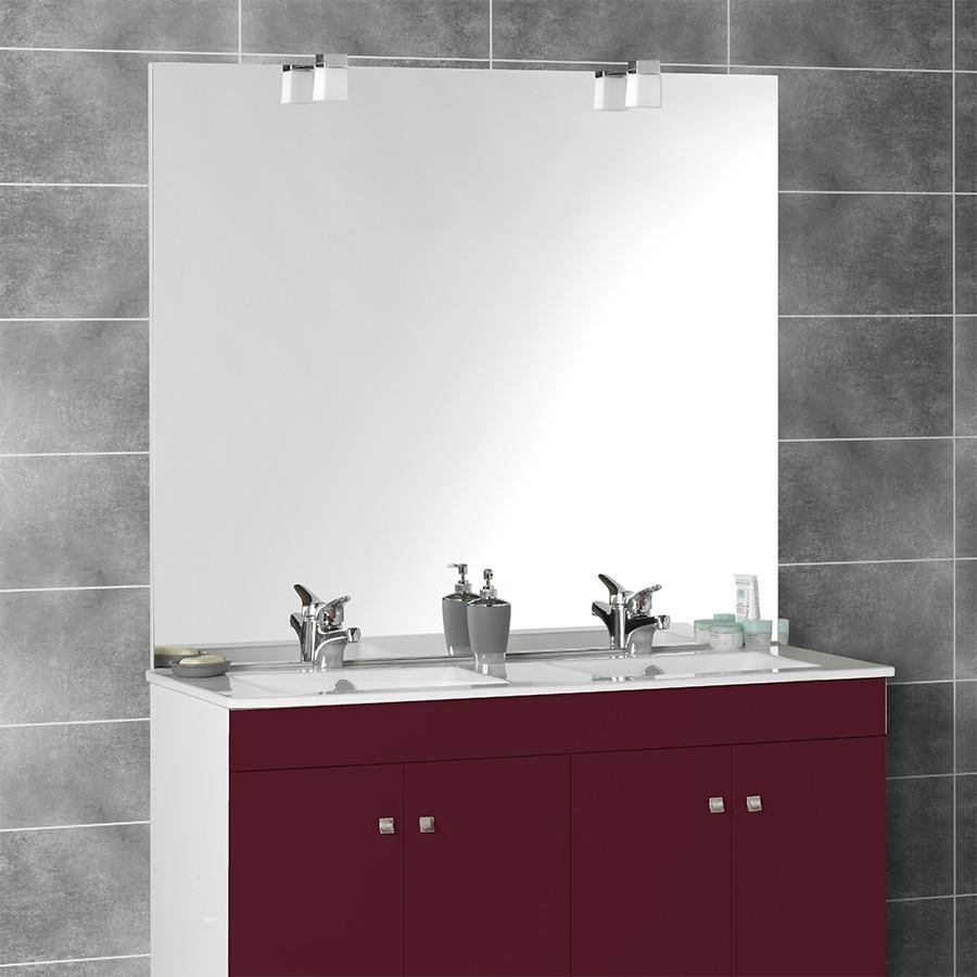 Miroir avec applique pour salle de bain for Applique salle de bain 120 cm