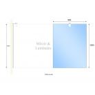Miroir avec applique MIRCOLINE - 90 cm + applique