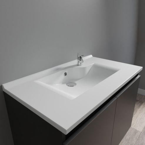 Plan simple vasque prof 46 RÉSILOGE - 80 cm