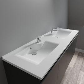 Plan vasque double prof 46 RÉSILOGE - 120 cm