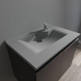 Plan simple vasque gris béton prof 46 RÉSILOGE - 70 cm