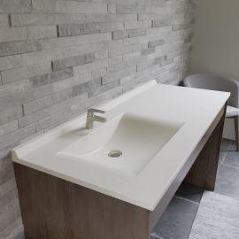 Plan simple vasque déportée RÉSIPLAN - 141 cm vasque à gauche