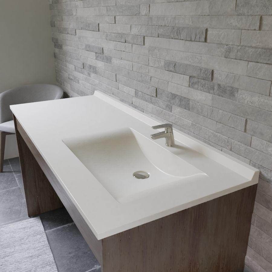 Vasque D Angle De Salle De Bain plan vasque simple en résine de salle de bain