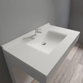 Plan simple vasque centrée RÉSIPLAN - 90 cm