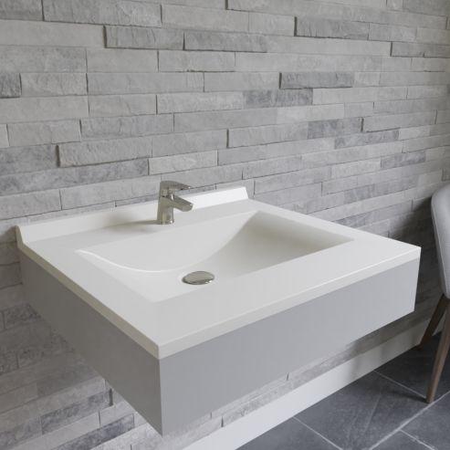 Plan simple vasque centrée RÉSIPLAN - 60 cm