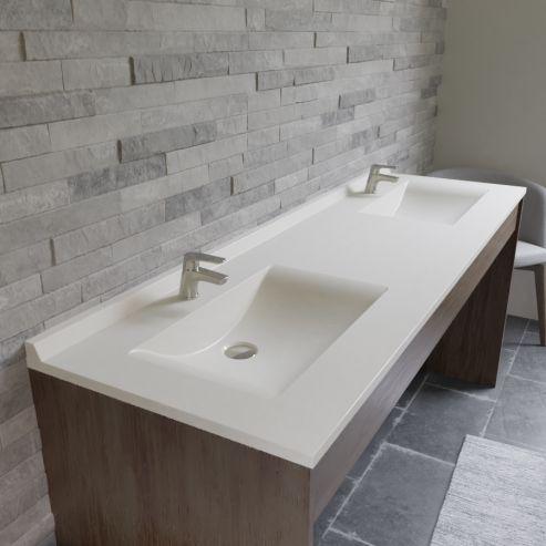 Plan double vasque en résine RÉSIPLAN - 175 cm