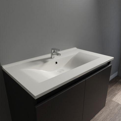 Plan simple vasque céramique CÉRAPLAN - 80 cm