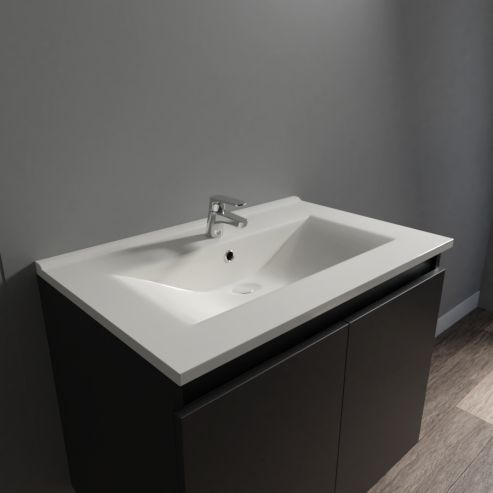 Plan simple vasque céramique CÉRAPLAN - 70 cm