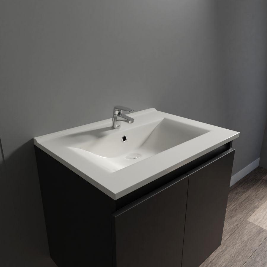 Plan Vasque Simple En Céramique De Salle De Bain