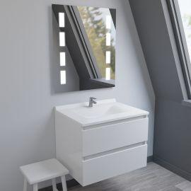 Meuble salle de bain simple vasque ARLEQUIN 70x55 - 5 coloris au choix
