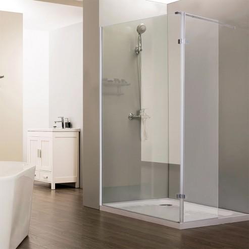 Paroi de douche fixe avec retour 10 mm STURDY - 100+40 cm
