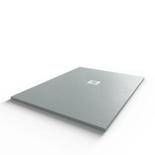 Receveur ultraplat LEVEL ardoise coloris gris ciment - 120*90 cm